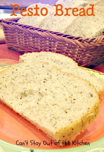 Pesto Bread ... A great breadmaker recipe that is so easy! with the wonderful savory flavors of parsley, garlic, basil and parmesan cheese permeating every bite.