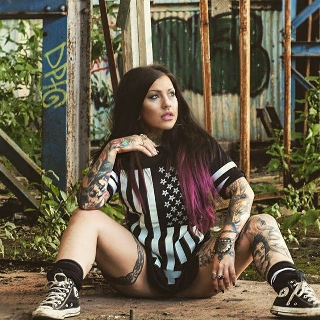 """Americunt"" Striped Mesh Tee available at www.crmc-clothing.co.uk | WE SHIP WORLDWIDE Model - @crystalshipkelly#starsandstripes #tattooedwomen #hot #meshtee #womenwithtattoos #tattooedmodels #beautiful #blackwear #alternative #alternativefashion #alternativestyle #Edinburgh #fashionstatement #fashiongram #scotland #instastyle #stylegram #fashion #fashionoftheday #dailyfashion #styles #style #alternativeguy"