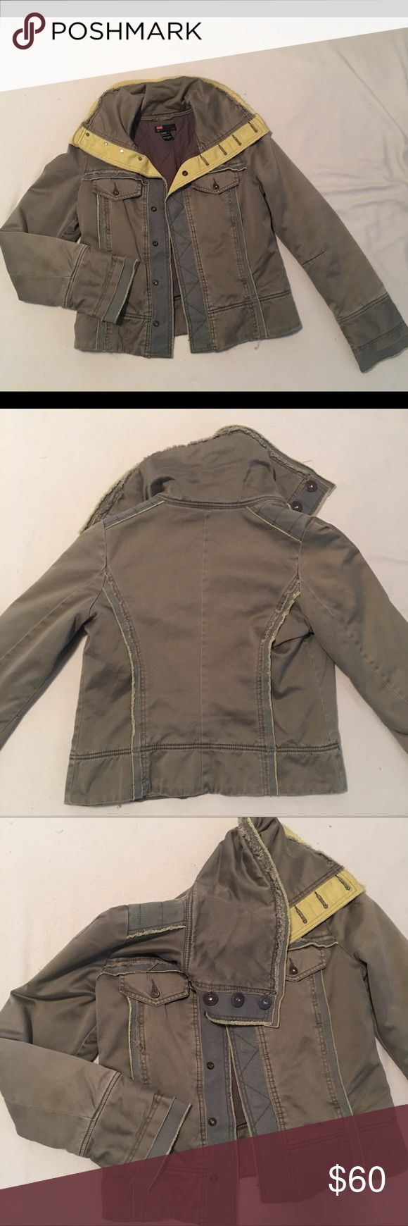 Authentic Diesel Jacket NWOT Beautiful Olive green Diesel jacket. Lined interior for extra warmth. Naturally distressed. Perfect condition, never warn. 💞 This is a size large- however is likely a juniors size large, fitting more true to a medium. Diesel Jackets & Coats