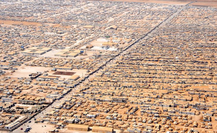 An Aerial View of the Za'atri Refugee Camp - Refugees of the Syrian Civil War - Wikipedia, the free encyclopedia