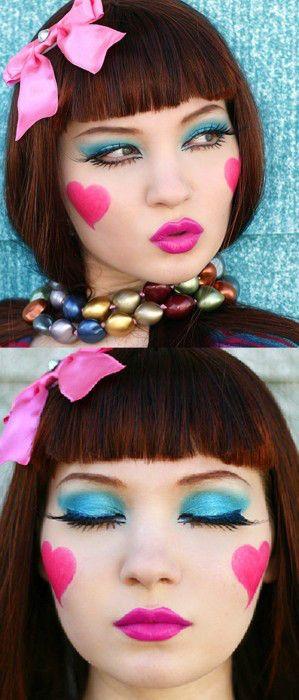 Miren que linda! parece una muñeca de porcelana!. Este es un ejemplo que pueden utilizar para un maquillaje de halloween!. Se que estamos adelantados, pero es mejor prevenir que lamentar, y buscar …