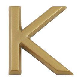 lettre k adhésive et doré