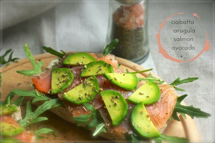 View Through the Lens: Breakfast time. Ciabatta with salmon and avocado