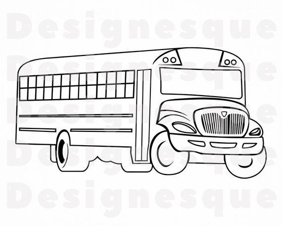 School Bus Outline Svg School Bus Svg School Bus Clipart School