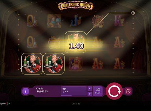 Игровой автомат Burlesque Queen – играть на деньги  Компания Playson посвятила игровой аппарат Burlesque Queen развлекательному театральному шоу. В этом автомате вы будете играть на реальные деньги на 5 барабанах и 21 линии. Получать крупные выплаты помогут фриспины с большим количеством разных бонусов.