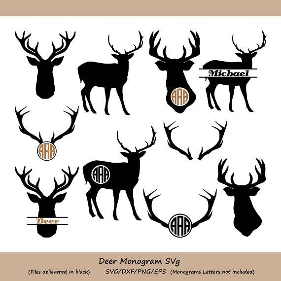 Deer Monogram Cut Files (SVG, DXF, PNG, EPS) SVG Files : These Files ready to be used with any cutting machine or program that support this format Such as : Silhouette Studio, Cricut Design Space and Brother ScaNcut. DXF Files : These Files ready to be used with Silhouette Studio