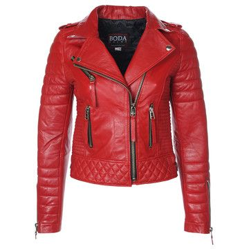 Bod Skins, Quilted Biker Jacket Wmn's Red