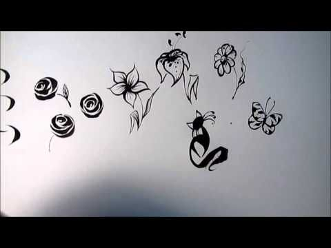 NEW 2016  FREE VIDEO! NAIL ART TRAINING ON PAPER! - YouTube