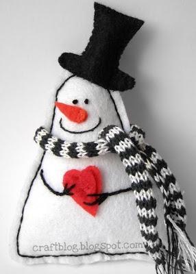 Рукодельные затейки: Снеговик из фетра / Felt Snowman