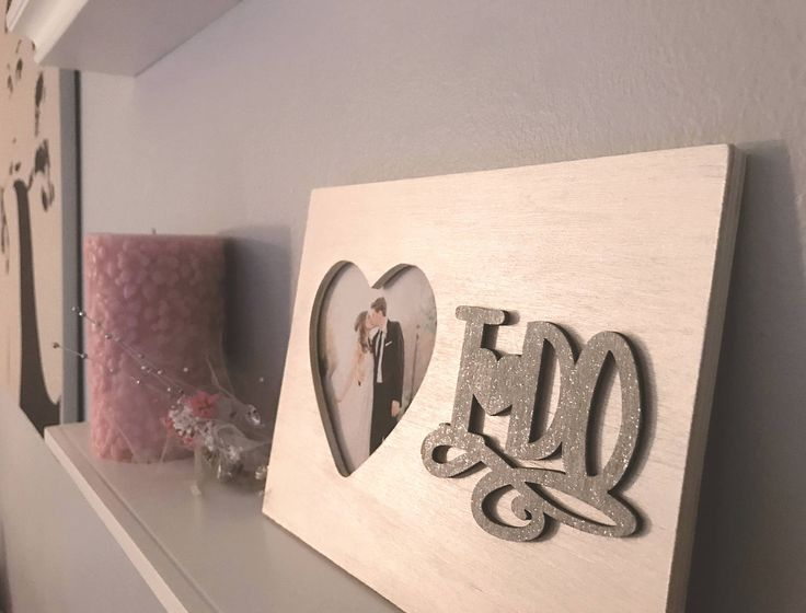 """Elegant wedding """"I Do"""" wooden heart picture frame in metallic white pearl paint - wedding gift - gifts for her - anniversary - bridal shower by JuneSixth on Etsy"""
