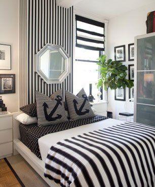 decoração de quartos preto e branco - Pesquisa Google
