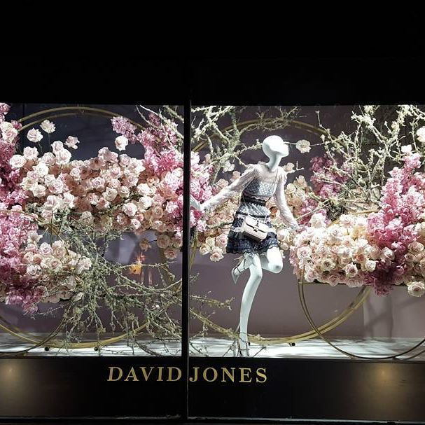 """DAVID JONES DEPARTMENT STORE, Sydney, New South Wales, Australia, """"Let your dreams blossom"""", photo by Kurt, pinned by Ton van der Veer"""