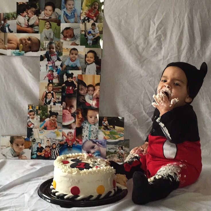 1 añito de Agustín! #mickeymouse #cakesmash
