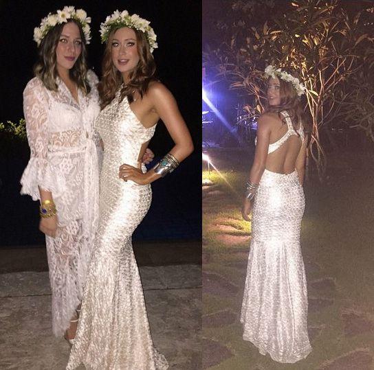 Marina Ruy Barbosa e Luma Costa apostaram em look longo e decotado