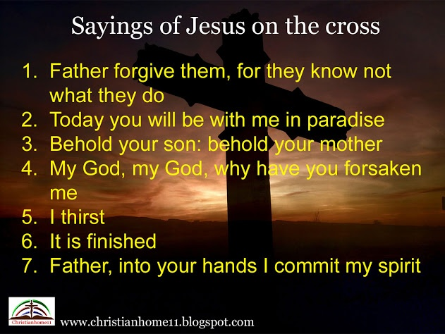 This Page Contains Information About What Were The Seven Last Words Of Jesus Christ On