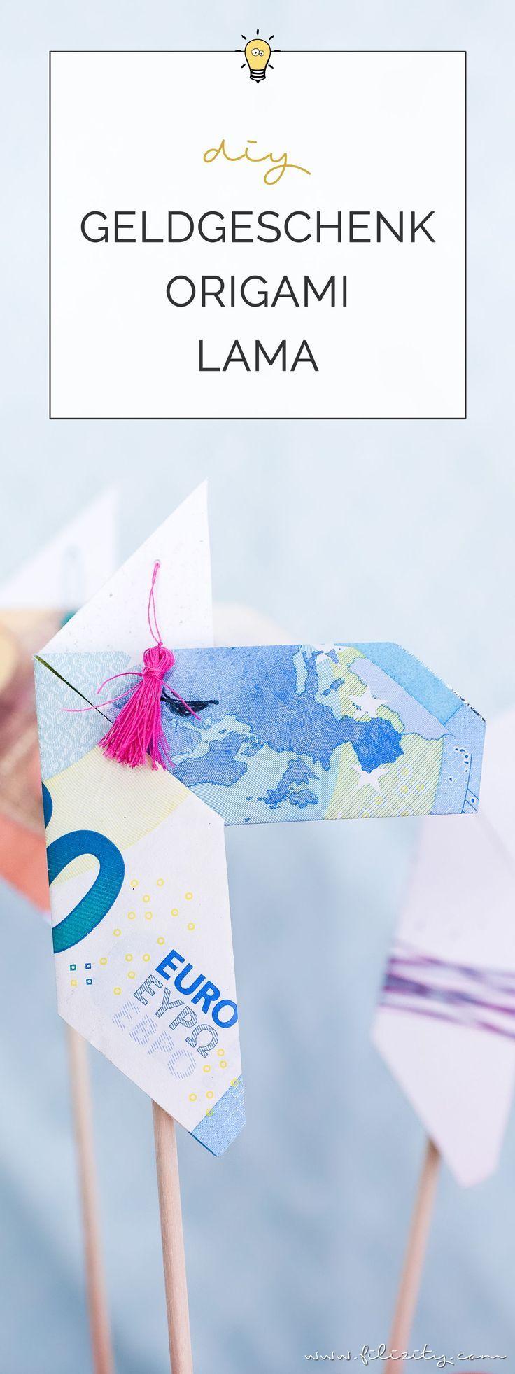 Kreative Geldgeschenke: Origami Lamas aus Geldscheinen falten