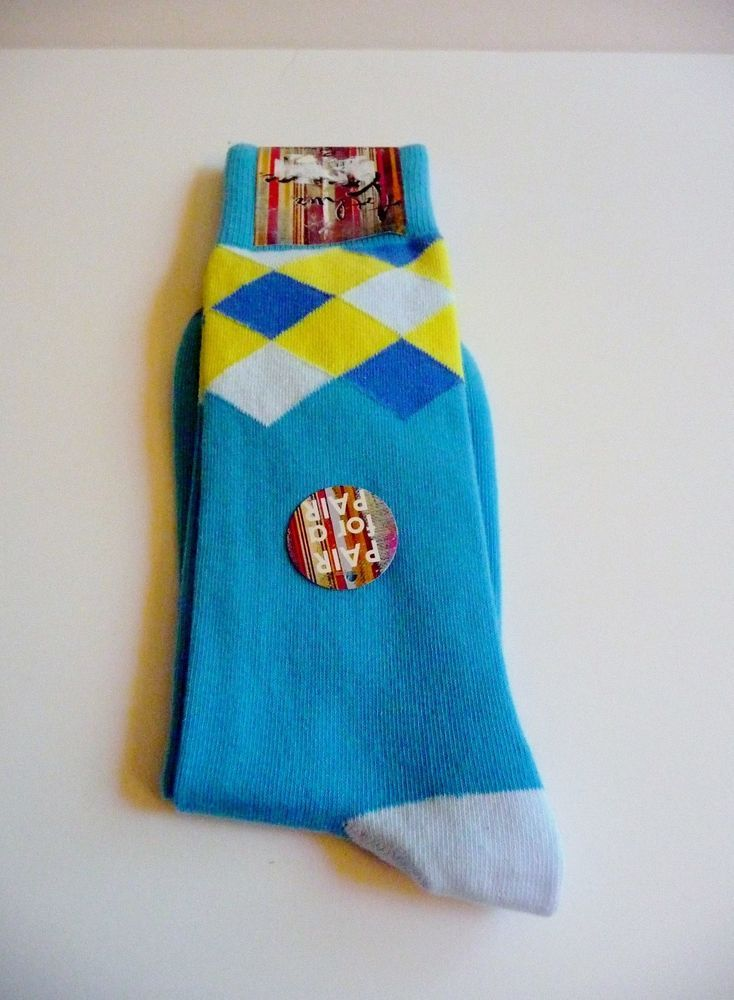 Arthur George by Rob Kardashian Blue Multi Color Design Socks 1 Sz Neiman Marcus #ArthurGeorgebyRobertKardashian #Casual