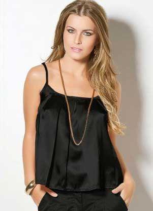 Gosta de cetim? Muito sexy! Amamos também! Confira mais blusas de cetim: http://modafeminina.biz/blusas-da-moda/modelos-de-blusa-de-cetim #moda