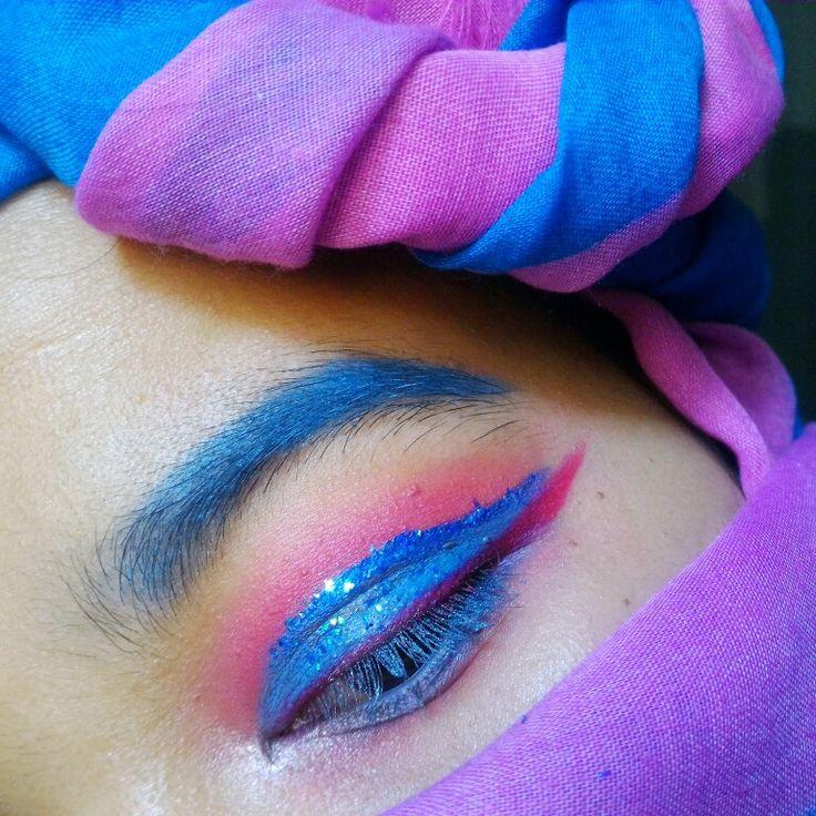 Ice cream eye makeup 🍍International Ice Cream Day, created by rahmabrilianita.com