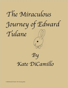 best miraculous journey of edward tulane images  the miraculous journey of edward tulane novel study book unit