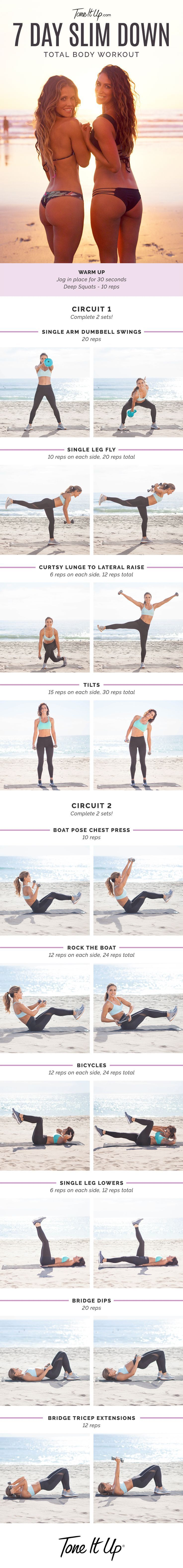NEW Total Body 7 Day Slim Down Workout – ToneItUp.com