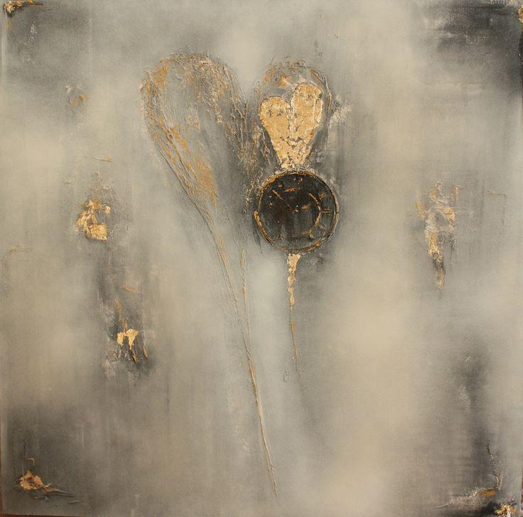"""Your golden time is now"" 80x80cm Cecilie Sundfærs Malerier Www.CilleDill.no"