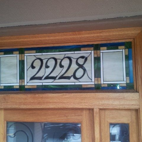 1000 Images About Stained Glass House Numbers On