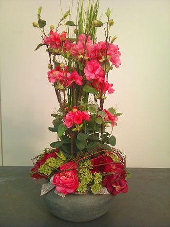 Service d coration florale entreprise plante artificielle Composition florale exterieur hiver