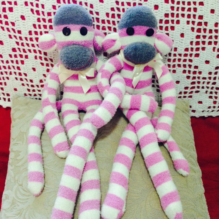 It's Twins! - Sock Monkey.    Follow us on Facebook www.facebook.com/ck.kreations