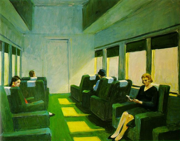 Chair Car - Edward Hopper  1965 (120 Kb); Oil on canvas, 40 x 50 inches; Private collection