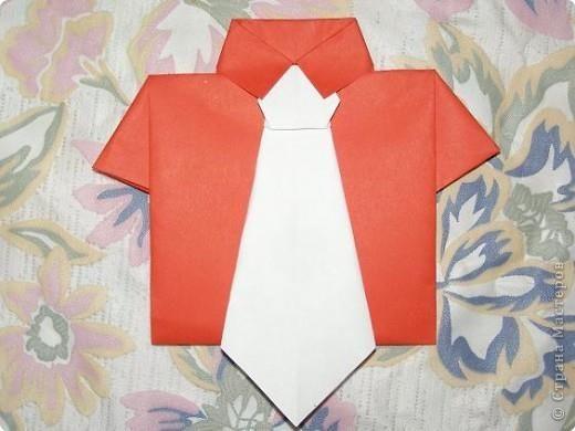 Мастер класс рубашка из бумаги