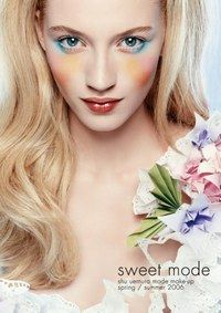 Lebhafte Farben - Make-up-Trends für den Sommer - Sweet Mode, ein sehr impressionistischer und etwas gewagter Look von Shu Uemura. Diese malerische Palette ist ideal für einmalige Feste und Gelegenheiten wie Hochzeiten,...