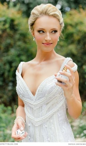 What a stunning wedding dress! Former Miss South Africa's wedding is now on the blog | theprettyblog.com | Wedding Venue: Oakfield Farm | Photographer: Christine Meintjes Photography | Make-up: Beauty & the brush | Make-up: Make-up by Dyllon | Hair: Gary Rom Hair | Wedding Dress: Bondesio Couture |