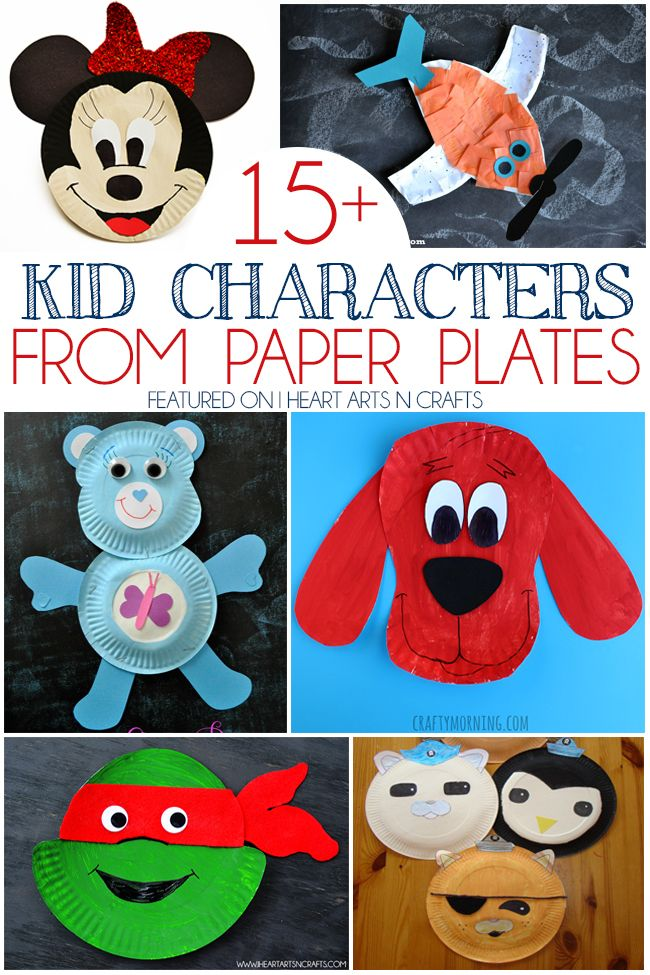 15+ Kid Characters From Paper Plates - Minnie Mouse, Planes, Care Bears, TMNT, Octonauts and more!