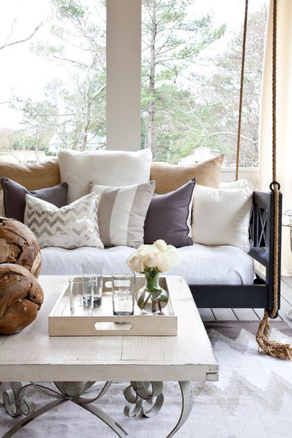 Give Your Outdoor Rooms a Cozy Winter Makeover-Transitional Porch by Lindsey Hene Interiors