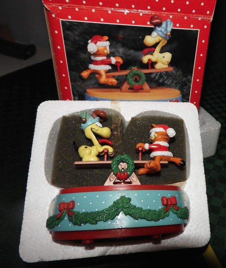 "GARFIELD THE CAT ENESCO ""TETTER TOTTER CHRISTMAS"" JOY RIDING"