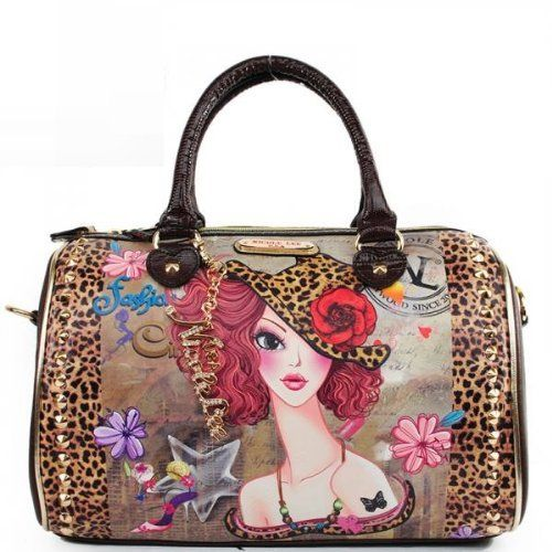 NICOLE LEE TINA PRINTED BOSTON PURSE FASHION STUDDED WOMEN HANDBAG by Nicole Lee, http://www.amazon.com/dp/B00D5DGS96/ref=cm_sw_r_pi_dp_bR7Yrb0A0362D