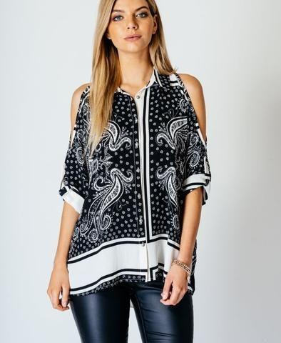 black paisley shirt