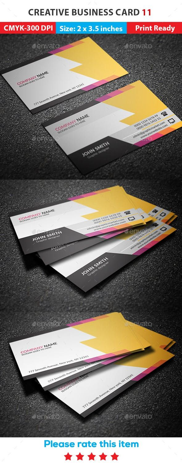 Creative Business Card 11 By Graphicmarket Graphicriver Business Cards Creative Business Cards Creative Templates Business Card Template Psd