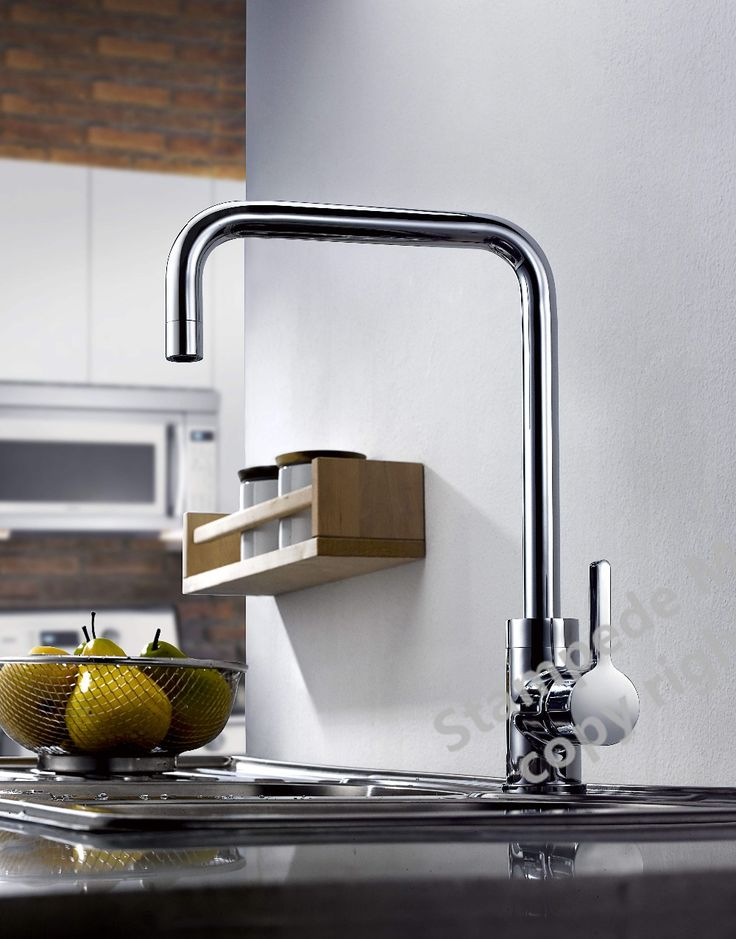 Kitchen Faucet Handle Faucet Hot and Cold Water Classic Style Solid Brass Sink Mixer Tap Rotatable With Aerator Polished Chrome -- Check out the image by visiting the link.