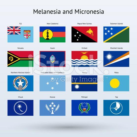 Melanesia and Micronesia Flags