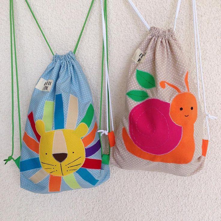 Baby accessories, accessori bambino, drawstring, backpack drawstring, lion, stoffa, mamma, bambino, lumaca leone