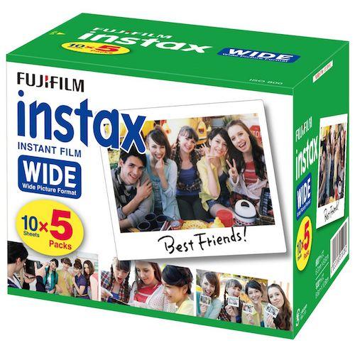 Fujifilm Instax Wide Plain Film | 5 Pack (50 film)