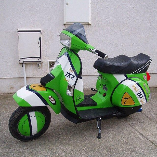 T5 Mk1 #vespa #vespagram #scootering #scooterist #poleposition #squaretail #sipscootershop