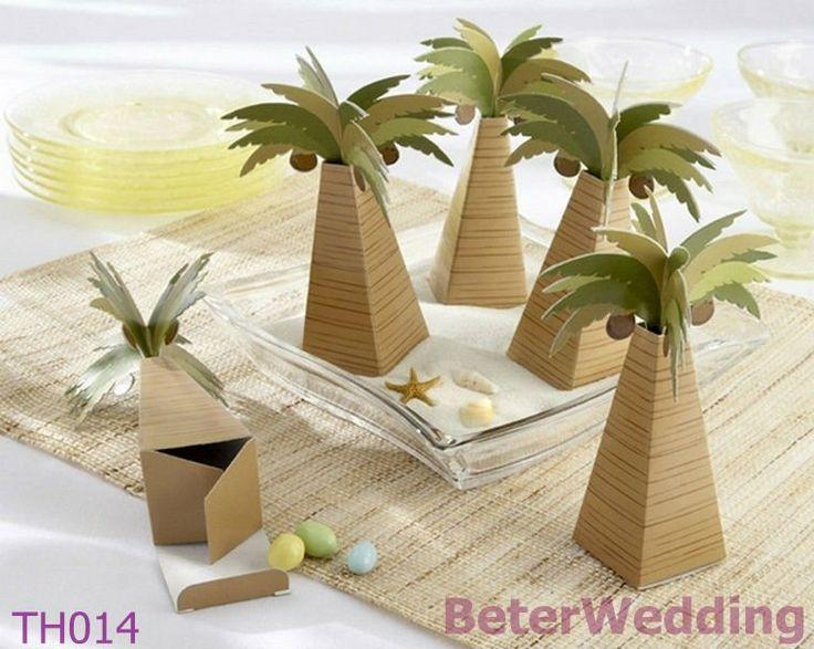 TH014 Palm Tree Wedding Favor Box 120pcs    Your Unique Wedding Favors, Party Souvenirs   ; http://www.aliexpress.com/store/513753
