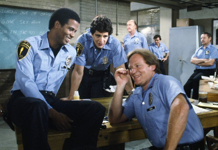 Charles Haid, Ed Marinaro, and Michael Warren in Hill Street Blues (1981)