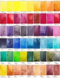 Setting up your watercolor palette - warms & cools. So much advice here! http://www.janeblundellart.com/