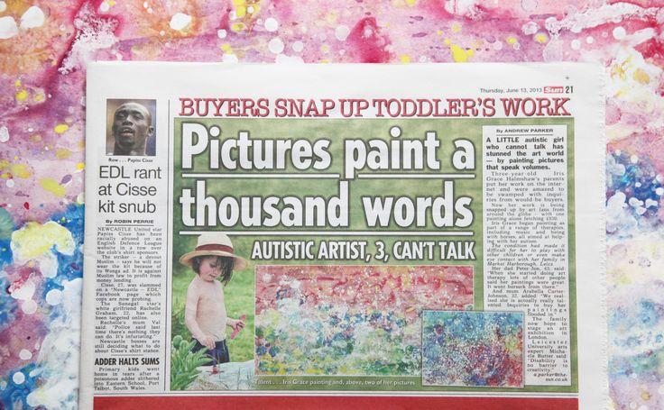 Iris in The Sun Newspaper, UK, 2013