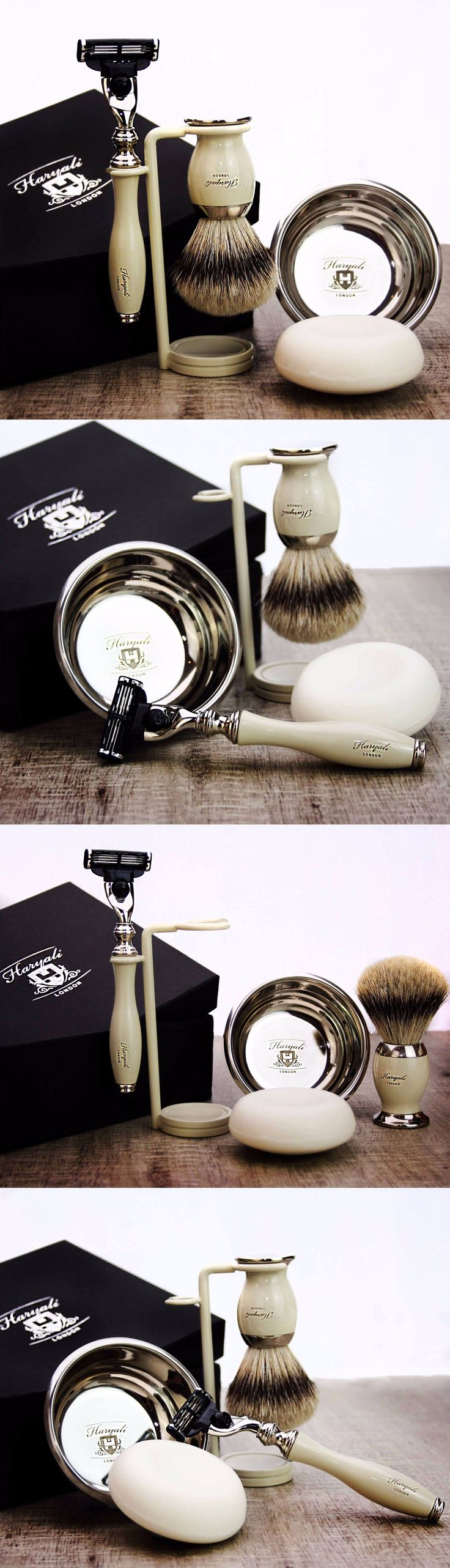 Shaving Brushes and Mugs: Shaving And Grooming Set |Gillette Mach3 And Silvertip Badger Brush| Men S Kit Gift -> BUY IT NOW ONLY: $59.99 on eBay!