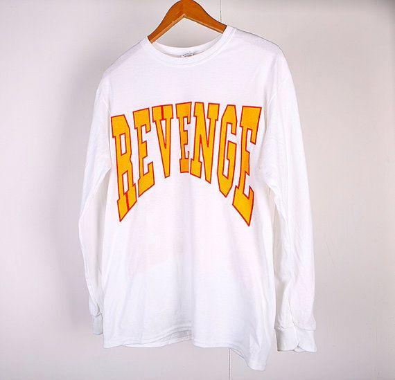Revenge Drake Merch Long Sleeve White T Shirt - Freshtops Marketplace